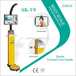 2016 Ultrasonic Height And Weight Machine SK-V9 Body Fat Scale