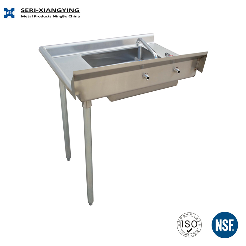 Nsf Approval Stainless Steel Soild Fish Cleaning Table With Sink Adjustable Feet Good Quality With Low Price Buy Soiled Dish Table Stainless Steel