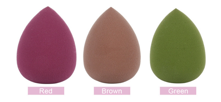 2019 Hot sales green color soft face foundation sponge cosmetic puff beauty sponge blender for makeup