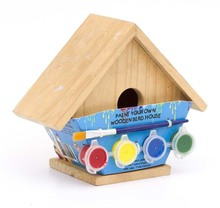 Hot sale unfinished wooden bird house wholesale