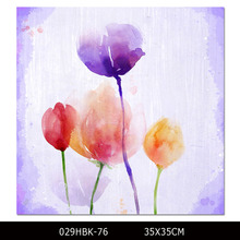 Factory Supply Modern Colors Abstract Flower Oil Painting on Canvas Print Colorful Flower Wall Picture for Living Room