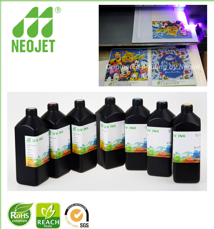 profesional universal heavy uv led curing ink for EPSON dx5 dx7 piezo printhead uv the printer soft media printing