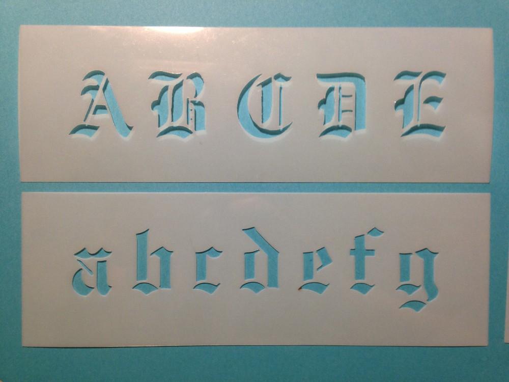 Kunststoff Malerei Schablone Dekorative Old Englisch Schriftart