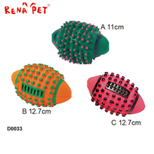Various Colors Non-Toxic Rubber Dog Treat Ball Toy custom vinyl toy