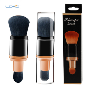 LDAO Latest Wholesale Refillable Dispensing Mineral Two Size Goat Hair Multi-Function Face Powder Makeup Cosmetic Brush