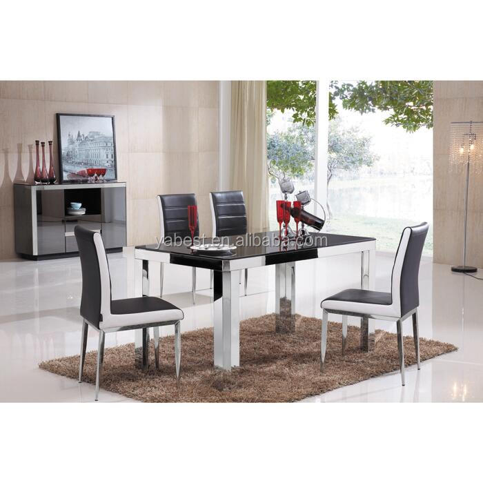 modern latest glass dining table and chair