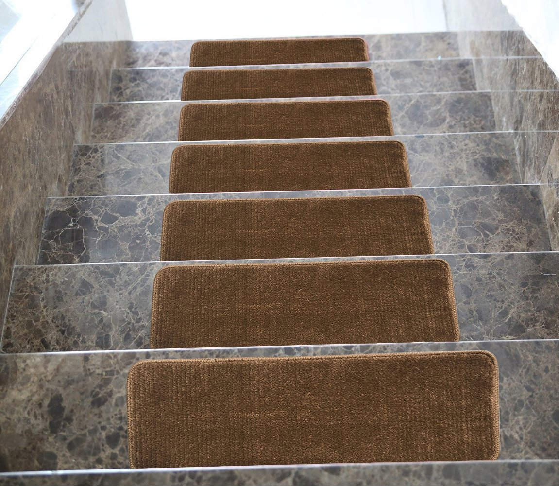 Euro Collection Stair Treads Indoor Skid Slip Resistant Carpet Tread 8 ½ Inch X