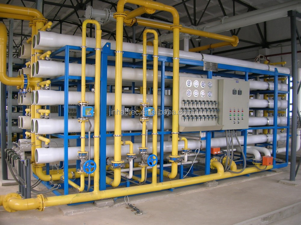 RO Drinking water treatment Turn-key project with carbon steel lining pretreatment jar, reverse osmosis system quipment