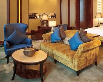 5 Star Hotel Lobby Sofa With Coffee Table
