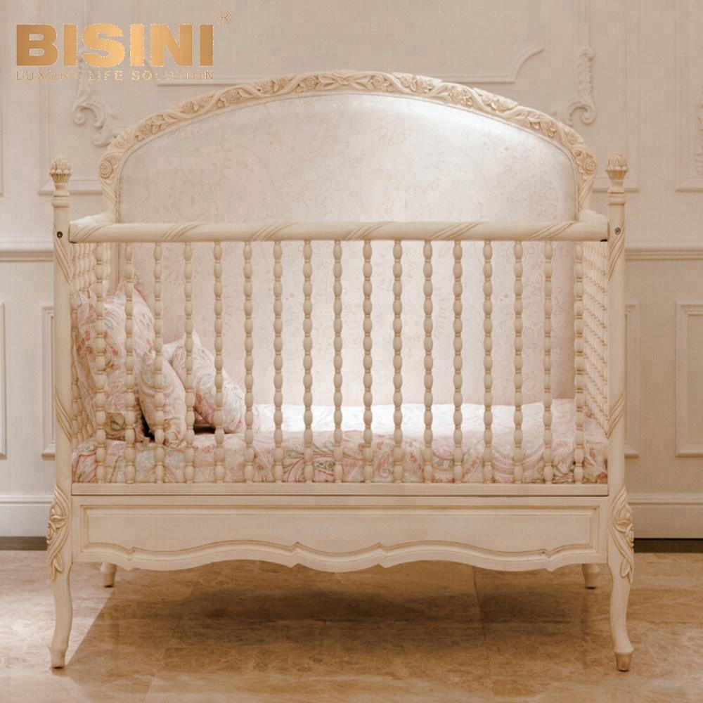 Bisini Royal Baby Custom Made Wood Baby Crib,French Style Elegant Oversized  Bedroom Furniture,New Born Baby Bed(bf07-70192)t - Buy Custom Made Wood ...