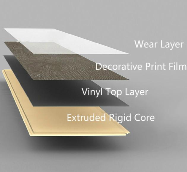 Sàn vinyl nhà sản xuất không thấm nước vinyl tấm ván sàn bấm vào hệ thống vinyl sàn gỗ