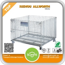 Lockable Logistic Folding wire mesh container steel storage cage