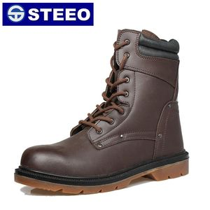 Easy take off industrial work men safety boots with zipper