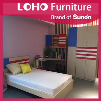 Cartoon mdf kids bedroom furniture sets cheap girl - Cheap childrens furniture sets bedroom ...