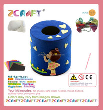 DIY craft Night Childhood paper tube box Pumping paper case handmade DIY kits Sewing kits Educational Toys