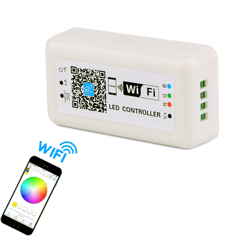 5pcs 100% good quality rgb wifi led controller APP iOS Android 85mm 4A *3  current smartphone control music dimmers