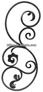 wrought iron ornate insert for gate railings staircase