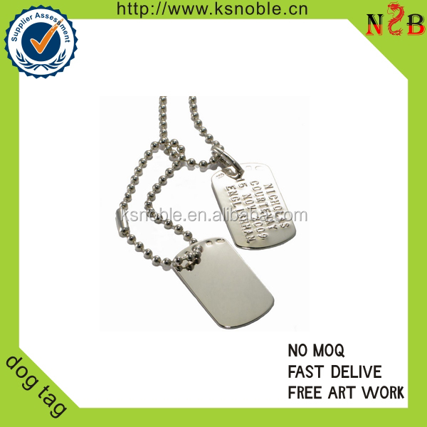 custom wholsale Metal Dog Tag with ballchain