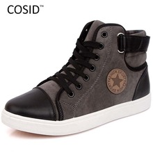New 2014 Autumn Winter Sneakers For Men Canvas Casual Shoes Fashion High Top Men Sneakers High Quality Flat Male Shoes RMC-019
