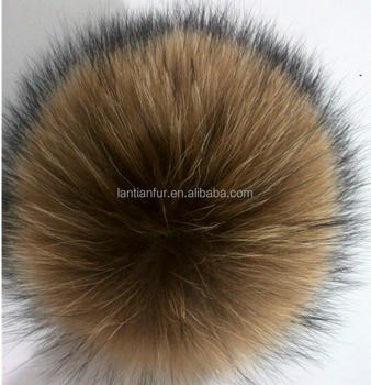 fashion wholesale price multi color rabbit / fox / mink/ raccoon fur ball /pom poms