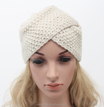 Bohemian Style Winter Knitted Elastic Women Hat Indian Ivory Beanie  Knitting Hat Pattern 910bc919c10