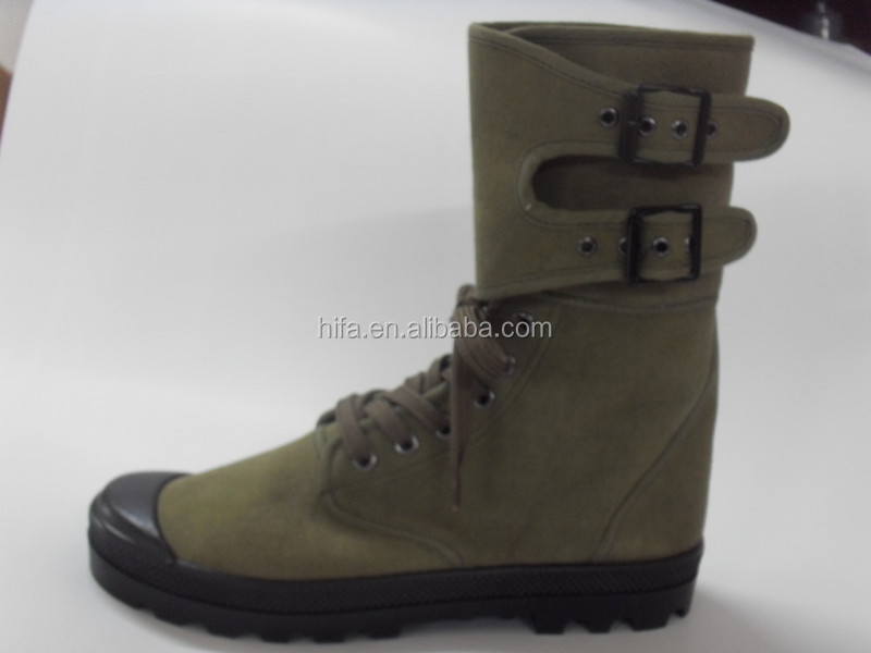 military canvas combat boots Army green ranger Boots
