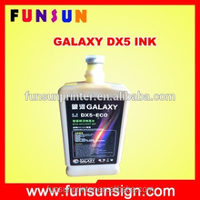 Cheap original galaxy dx5 eco solvent ink for large format vinyl sticker printing machine