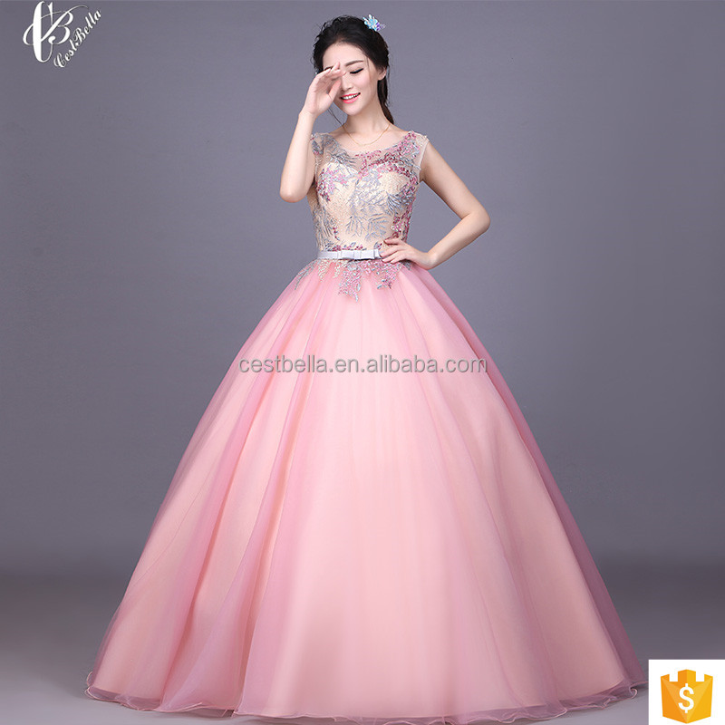 Latest Style Sleeveless Formal Cocktail Party Prom Ball Gown Wedding Dress