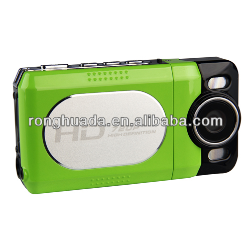 2015 USB multicolor digital video camera with 2 inch display,rotatable 30 degree screen,4X digital zoom,lithium battery