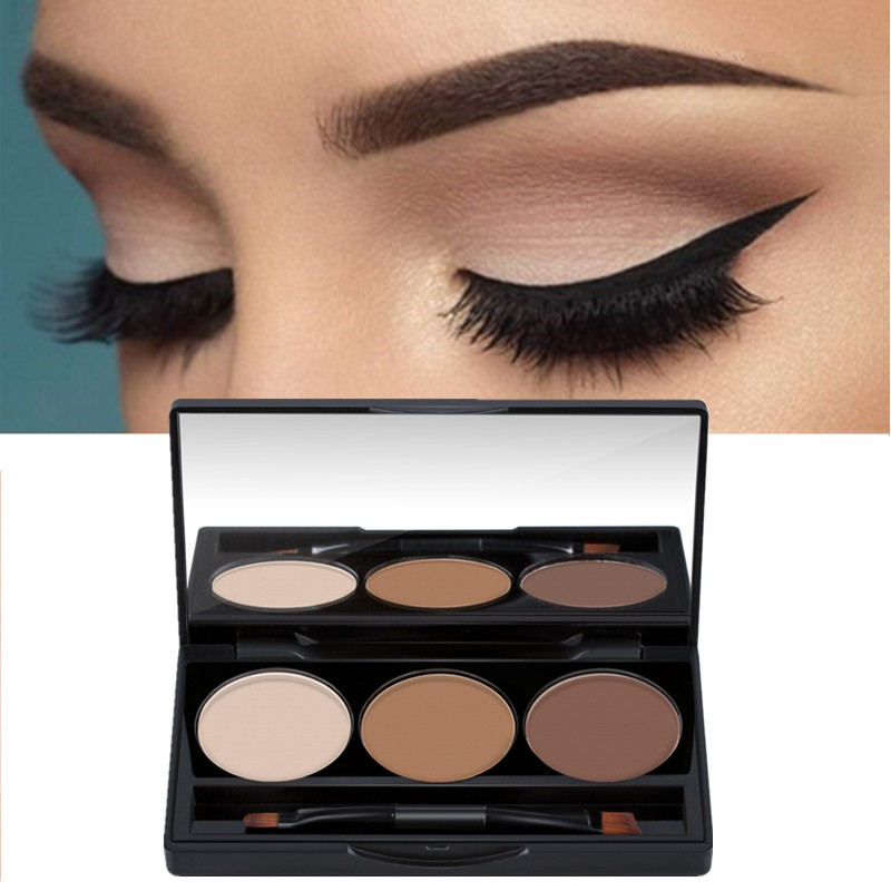 Eyebrow Wax Palette Brush Makeup Maquiagem New 2018 Reasonable 3 Color Hot Sale Professional Eye Shadow Eye Brow Makeup Eyebrow Powder