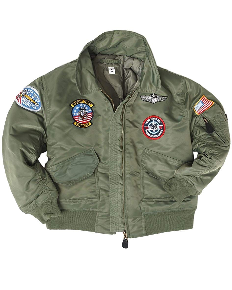d2cea56bf08 Get Quotations · Mil-Tec Big Boys  Cwu Jacket With Patches