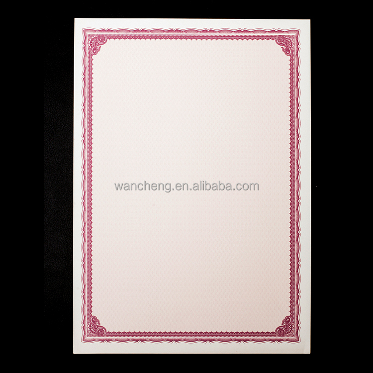 Wholesale Classic Red Border A4 Award,Degree,Patent,Warranty ,Quality Certificate Paper , 900135