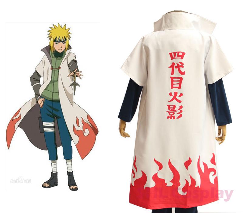 Hot Anime Naruto Cosplay Costumes Namikaze Minato Robe