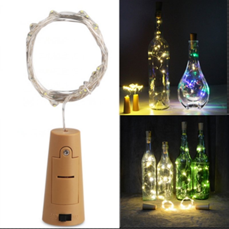 Cork Shape Wine Bottle Stopper Light Glass Wine LED Silver Wire Xmas Party Decor