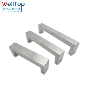 Square furniture desk drawer pulls