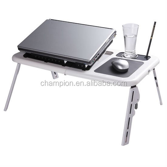 Plastic folding E-table laptop table for sofa and outdoor, small folding laptop table