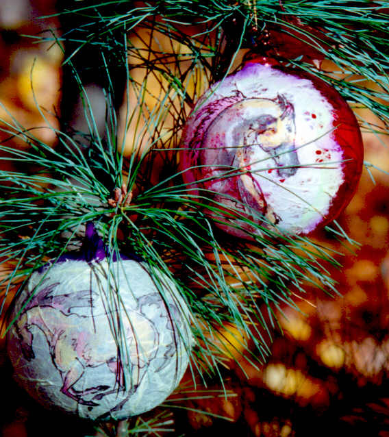 Painted Equine Holiday Ornaments