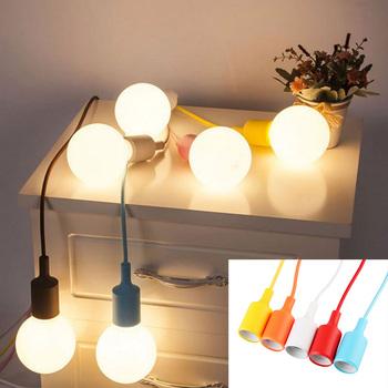 Lamp Parts Diy E27 Chandelier Light Fixture Rubber Ceiling Silicone ...