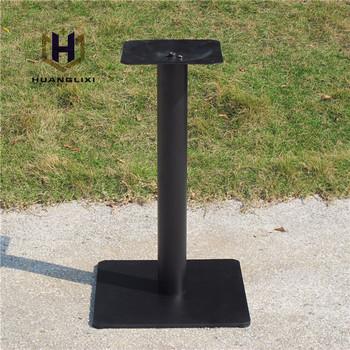 P7004 Schwarz Quadratischen Stahltisch Basisstahl Tischbeine Platz