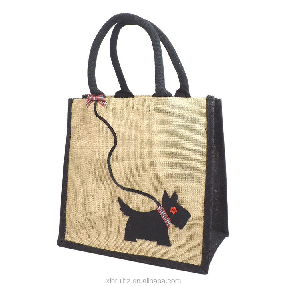 Jute bag manufacturers wholesale customized eco-friendly embroidery jute bag