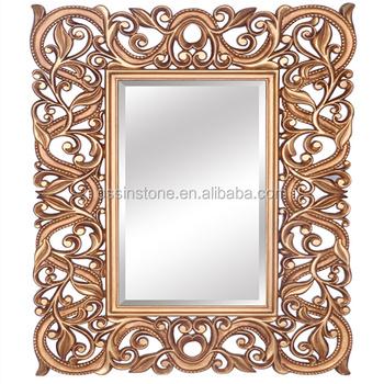 Antique Wooden Art Deco Mirror Frame