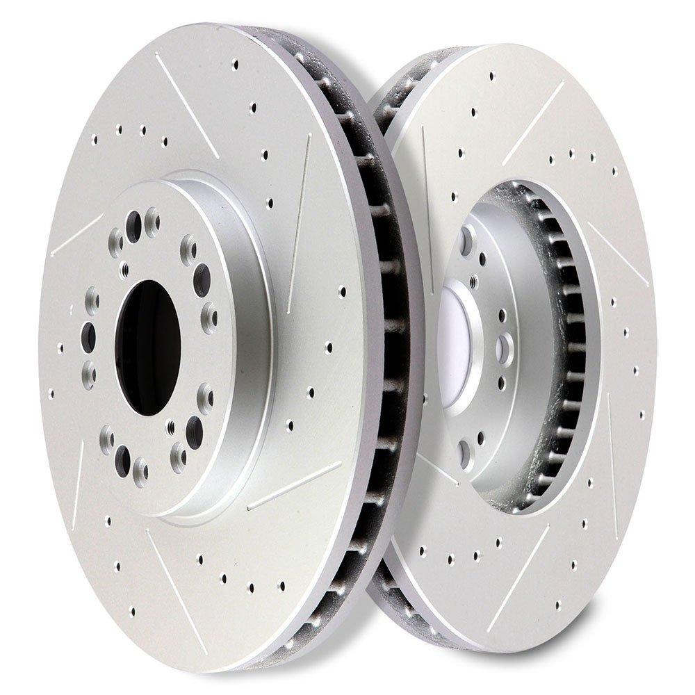For Toyota Lexus Land Cruiser LX470 Rear  Blank Brake Rotors+Semi-Met Pads