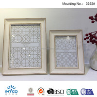 INTCO decorative tabletop wood color glass photo frame