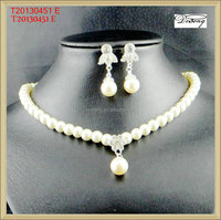 T20130451 2016 Latest pearl chain necklace designs bridal pearl necklace set costume jewelry