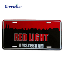 Newest custom company logo european car number plate holder