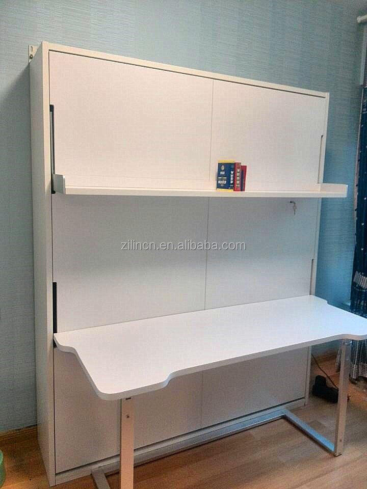 Innovative space saving wall bed with desk affordable murphy bed