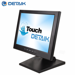 Detaik 12 inch Touch Screen monitor POS LED monitor Touch VGA 5 Wire resistive touch panel