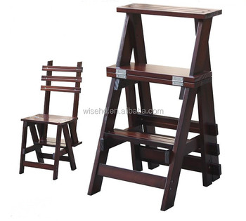 Strange W C 1230 Pine Wood Folding Convertible Step Ladder Chair Buy Convertible Ladder Chair Folding Step Stool Chair Library Step Chair Product On Beatyapartments Chair Design Images Beatyapartmentscom