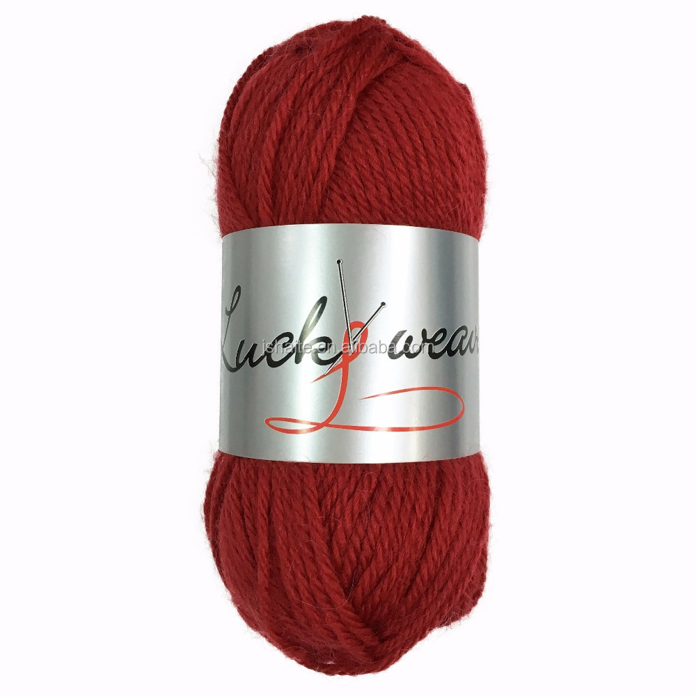 70% wool and 30% nylon blended aran hand knitting yarn with economy price