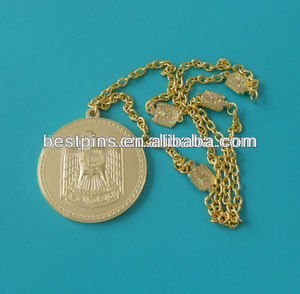 custom Gold Falcon Neck chain, saudi tags gold for jewelry, metal jewelry necklace pendent